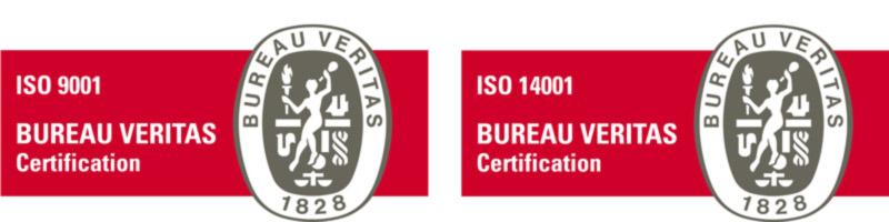 Certification de qualité ISO 9001 et ISO 14001