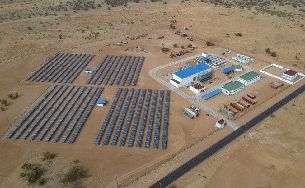 Centrale hybride de Kiffa Thermique et solaire